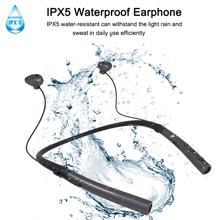 wireless headphone neckband with microphone