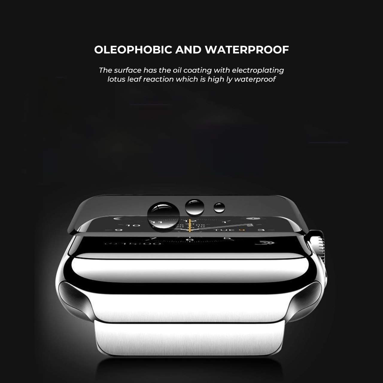 apple watch series 1/2/3 3d tempered glass screen protector
