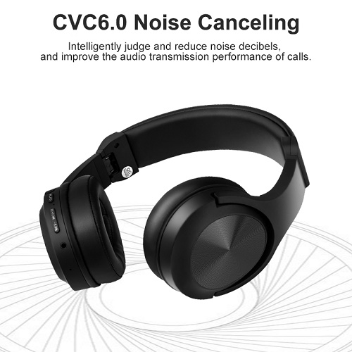 Noise cancelling wireless bluetooth headphone